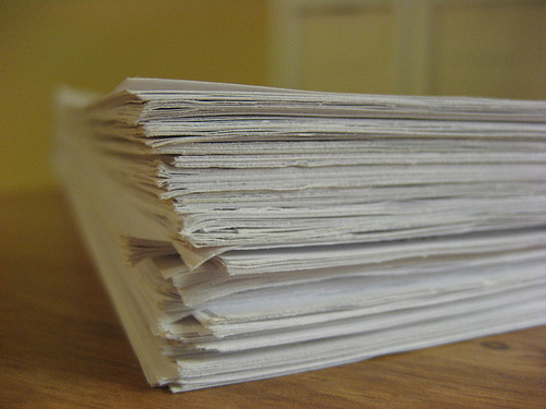 Stack of credit reports