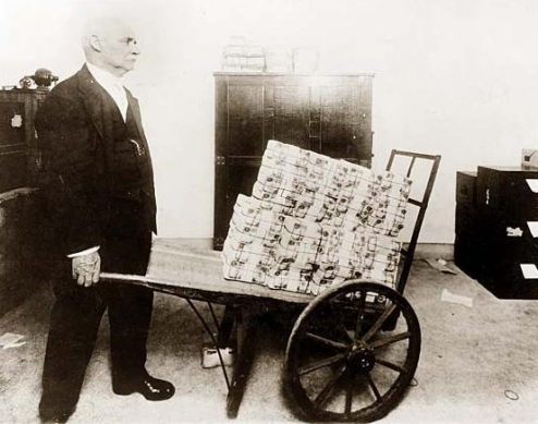 Wheelbarrow of Worthless Money
